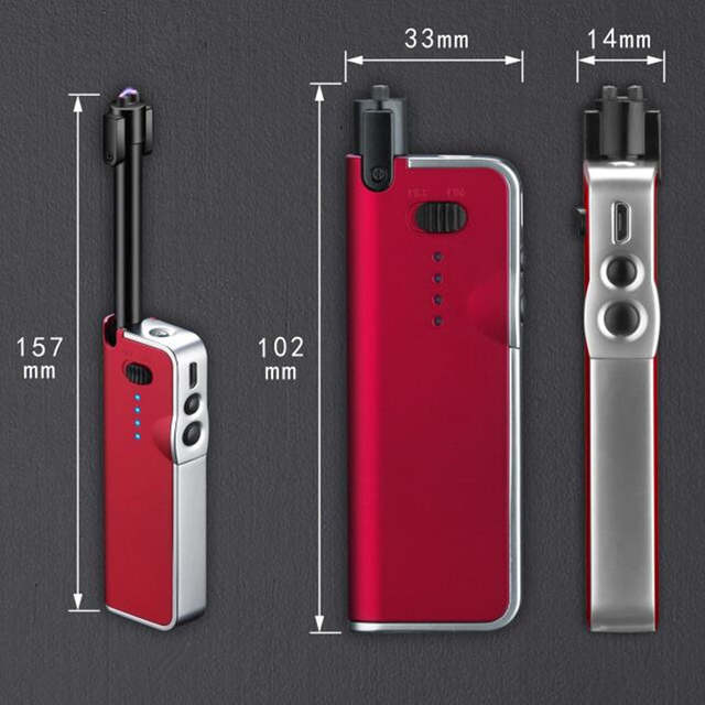Us 809 32 Offnew Creative Telescopic Arc Lighter For Bbq Gas Stoves Usb Charging Cigarette Lighter Windproof Flameless Electronic Lighters On
