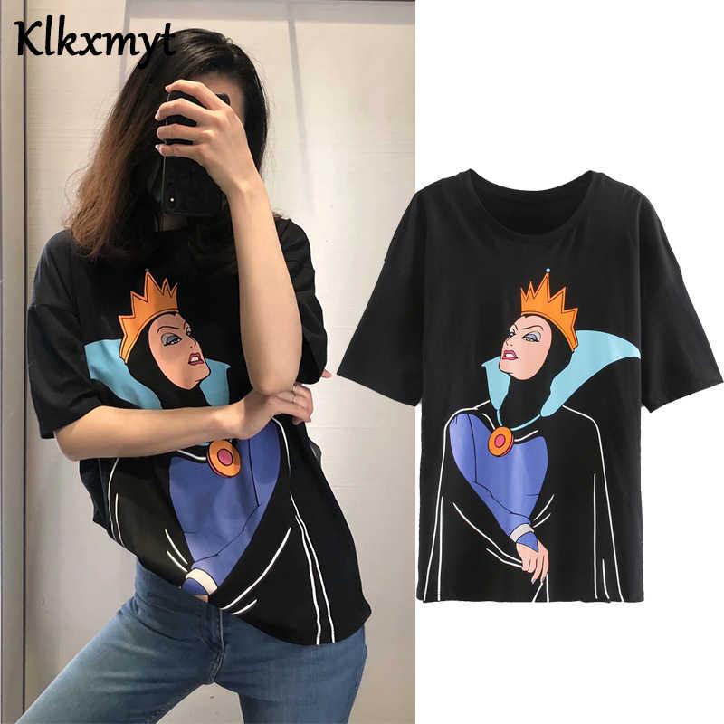 Camiseta de verano de algodón con estampado vintage de dibujos animados de estilo urbano inglés, camiseta harajuku para mujer, camisetas para mujer, tops 2020