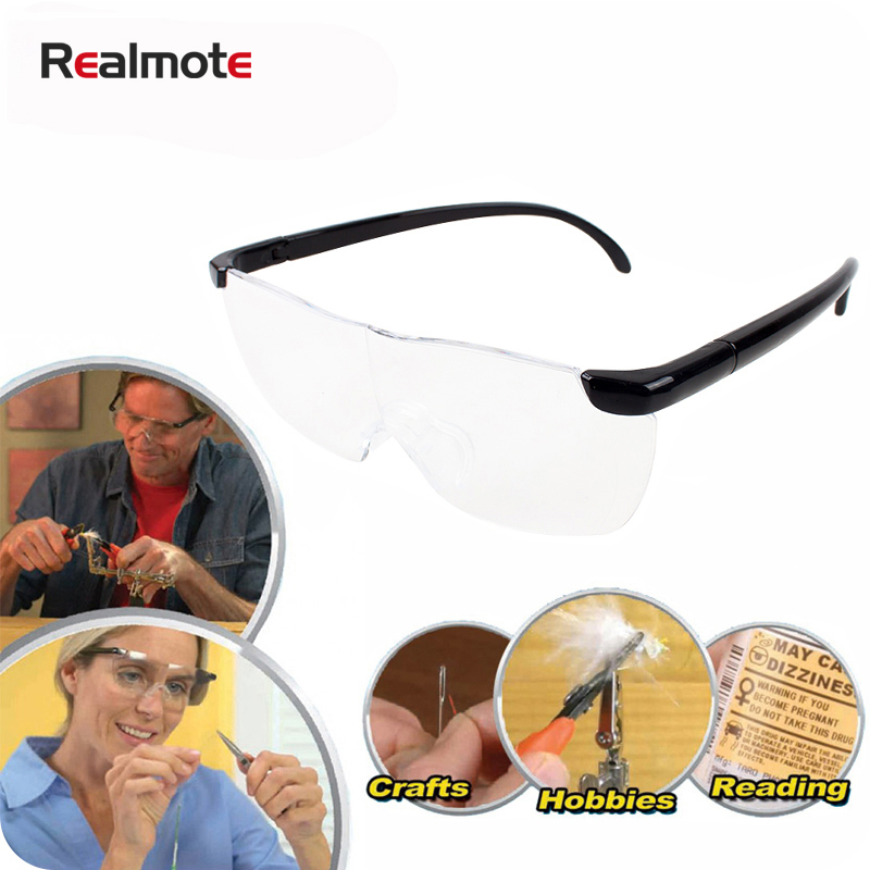 Realmote 250 Degree headband  Plastic magnifier eyewear 1.6x glasses Presbyopic for embroidery large reading
