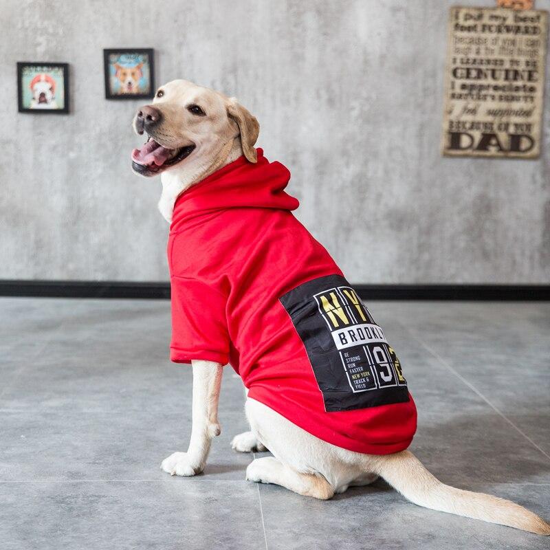 Hipidog New Warm Large Dog Autumn Winter Fleece Hoodies Big Puppy Clothes Hoodie for