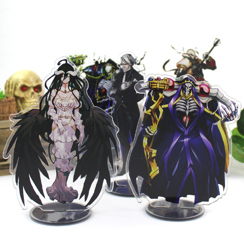 Anime Overlord Big Display Stand Plate Acrylic Cartoon Figure Stand Holder Model Christmas Days Gift