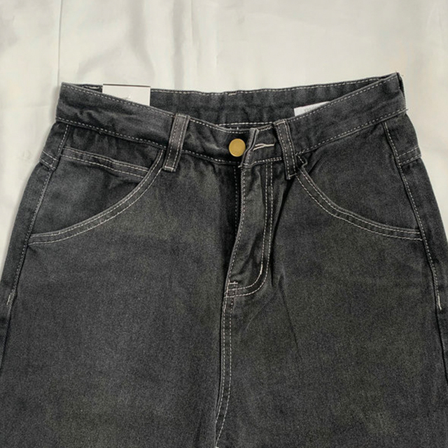 Jeans Loose Casual Straight Leg Highwaist  5