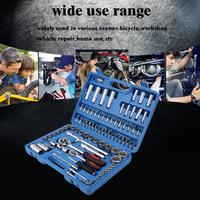 "94Pcs/set Professional 1/2"" 1/4"" Socket Set Screwdriver Bit Tool Torx Ratchet Driver Kit with Small Compact Case