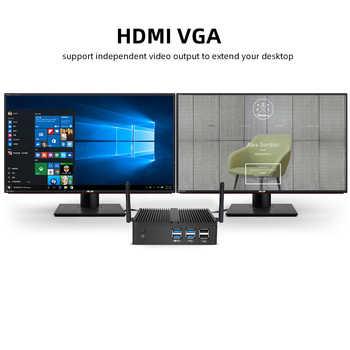 Fanless Mini PC Windows 10 Intel Core i7 4500U DDR3L RAM mSATA SSD 300M WiFi Gigabit LAN HDMI VGA 6x USB HTPC Nettop NUC