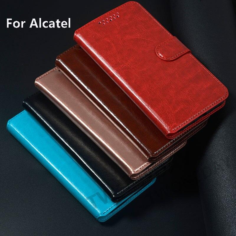 Phone Leather Flip Case For Alcatel 1V 1B 1SE 1S 2020 1 SE 3V 3 1C 3X 2019 2018 3L 2020 A7XL 5v Luxury Wallet Pu Back Covers(China)