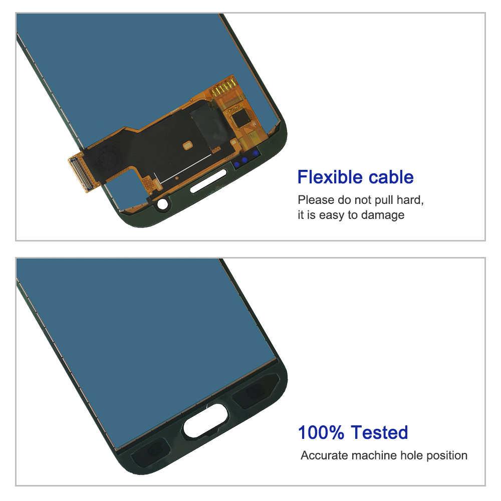 5.1 بوصة S7 استبدال شاشة LCD لسامسونج غالاكسي S7 G930A G930F SM-G930F شاشة تعمل باللمس محول الأرقام الجمعية