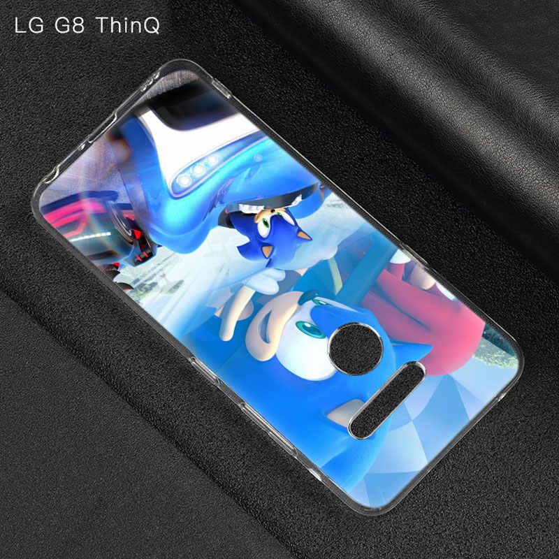 Sonic the Hedgehog Silikon Fall Für LG G5 G6 Mini G7 G8 G8S V20 V30 V40 V50 ThinQ Q6 Q7 q8 Q9 Q60 W10 W30 Aristo 2 X Power 2 3