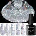 UR SUGAR Блестки для ногтей Гель-лак набор серебряных Шампанское Блестки био-Гели Soak Off УФ-лак для ногтей, растворимый Гель-лак гель,