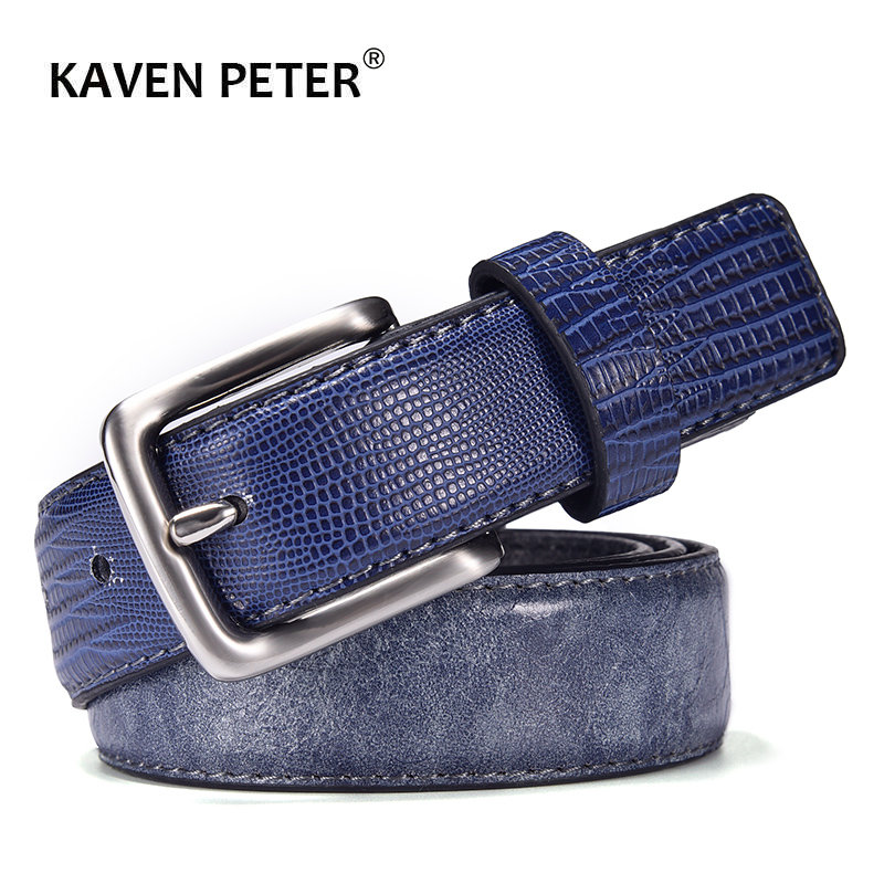 Hot Luxury Designer Belt For Men Casual Patchwork Men Belts  For Jeans Leather Navy Belt Men 3 CM Cinturones Hombre