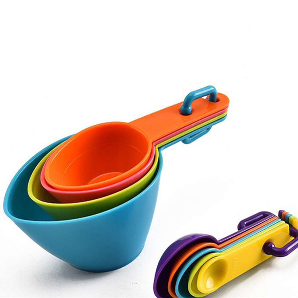 4pcs//set Kitchen Measuring Spoon Teaspoon Coffee Sugar Scoop Measuring Cups