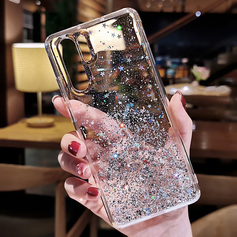 Bling <font><b>Glitter</b></font> Sequins <font><b>Case</b></font> for <font><b>Huawei</b></font> P Smart Plus Z Y9 Y6 Y5 Y7 Prime 2019 P30 <font><b>P20</b></font> P9 P10 <font><b>Lite</b></font> Honor 7C 7A 20 Pro 10i 20i Cover image