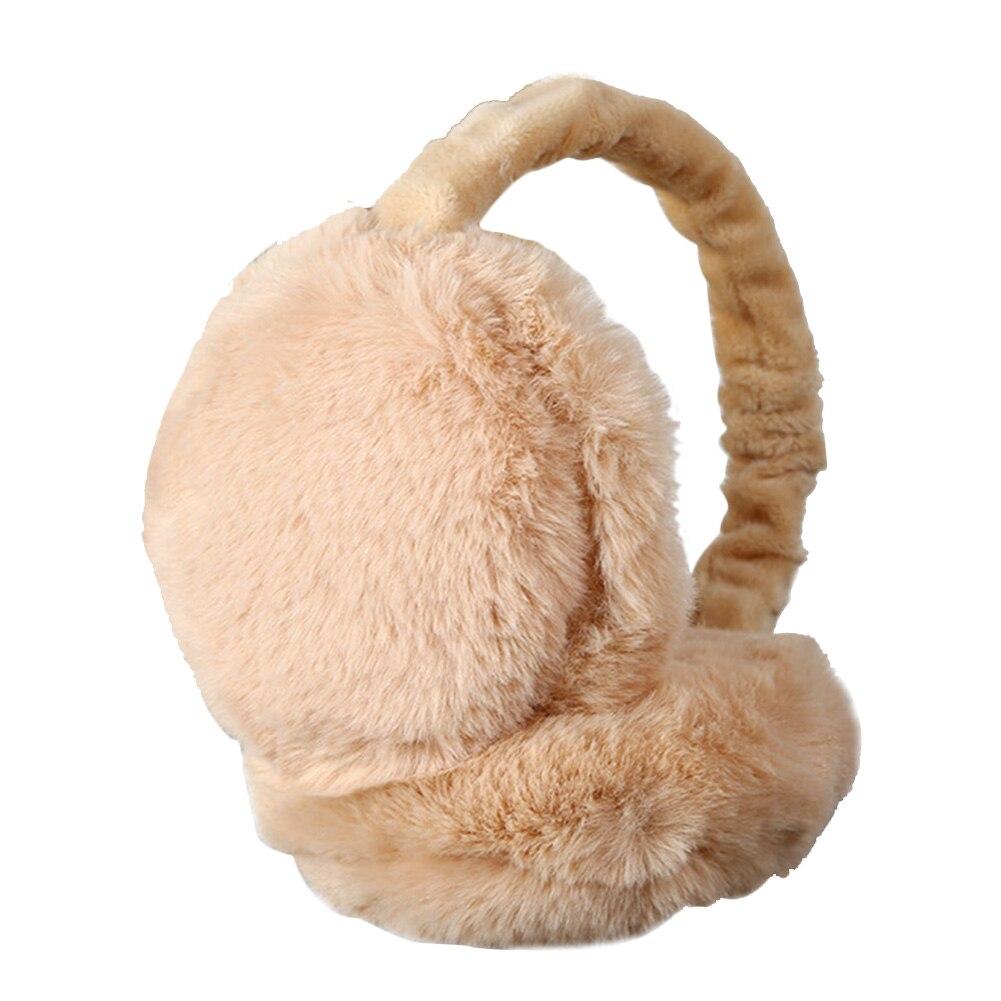 Women Headband Foldable Protector Full Surround Earmuffs Adjustable Earlap Ear Warmer Faux Fur Winter