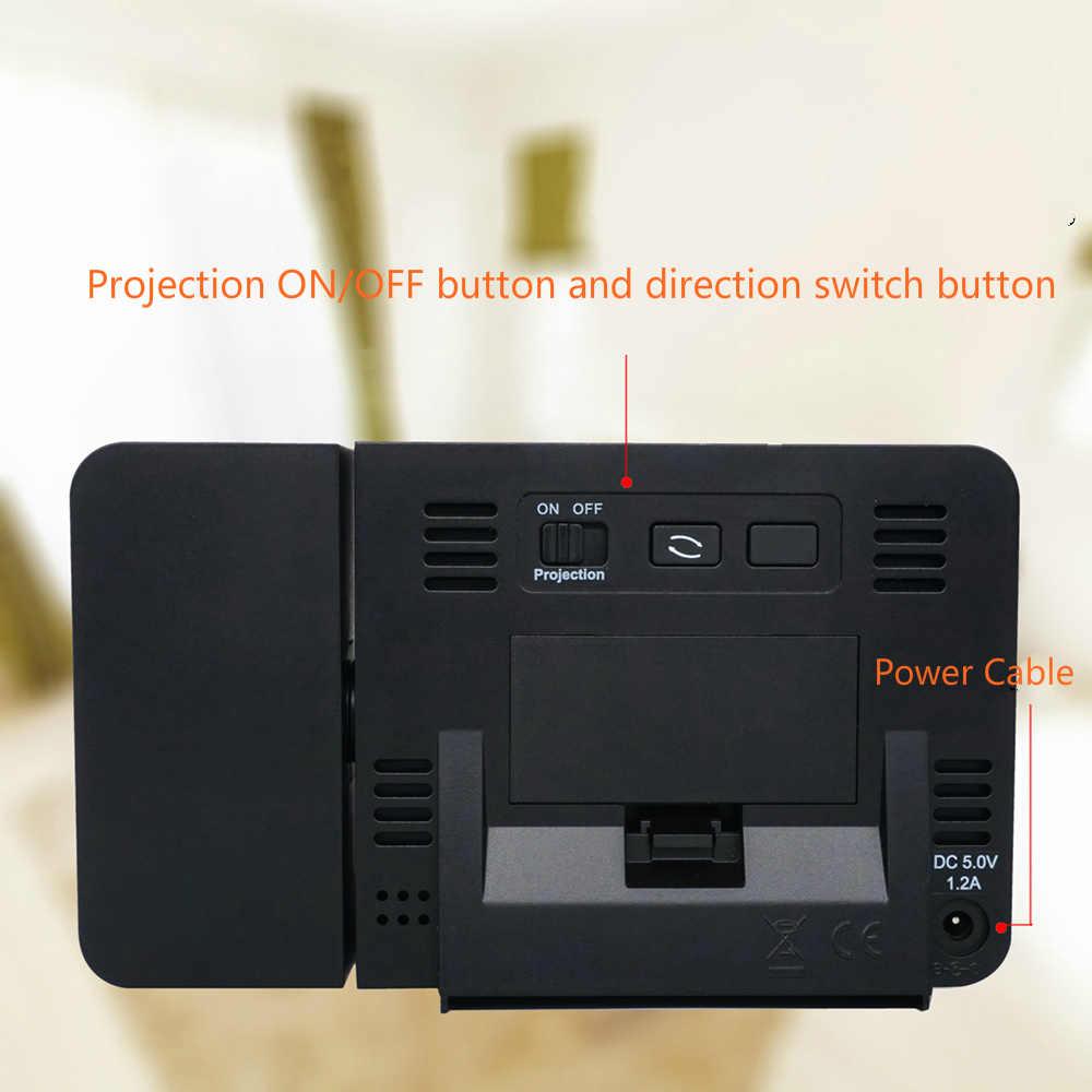 Projektion Uhr Schreibtisch Tisch Led Digital Snooze Alarm Hintergrundbeleuchtung Projektor Uhr Mit Zeit Temperatur Projektion Wohnkultur