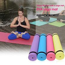 Коврики для йоги из ЭВА с линией положения, Нескользящие Коврики для начинающих, экологичные коврики для фитнеса и гимнастики, 173x61x0,4 см