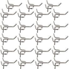 50 pçs durável aço carbono prático pegboard ganchos oficina de armazenamento garagem loja trabalho organização exibição ferramenta de suspensão
