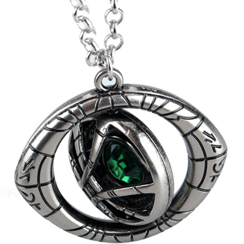 Cwfdy doutor estranho chaveiros de cristal olho de agamotto chaveiro filme vingador rotativo chaveiro carro pingente chaveiro jóias
