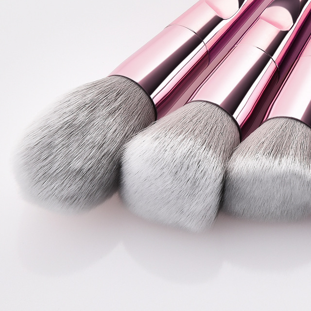 Professional Makeup Brushes For Face Eyeshadow Brush Blush Lip Eye Powder Mermaid Brushes Foundation Rose Gold Make Up Cosmetic 3