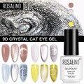 Кристаллический Гель-лак ROSALIND 9D «кошачий глаз», 7 мл, гель для ногтей с магнитной палкой, все для маникюра, Полупостоянный, отмачиваемый Гель-...