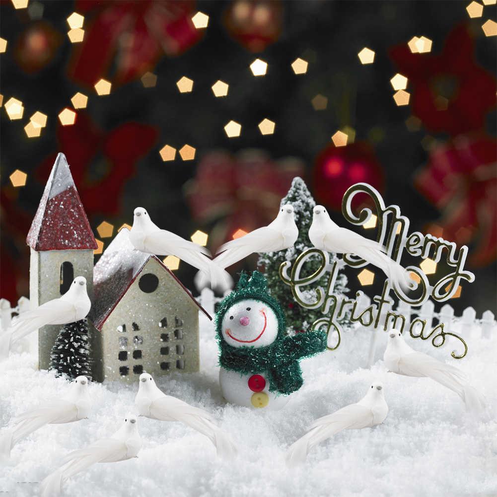 Details about  /12pcs Clip on Artificial Bird Foam Feather Christmas Tree Ornament Xmas Decor