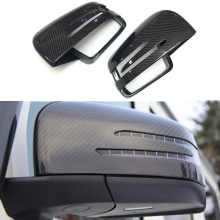 Side Mirror Cover Carbon Fiber Riew Cap for Mercedes-benz G class W463 G55 G500 G63 G65 2008-2017 & GLE class W166 2012+ 2pcs for mercedes benz g63 amg performance edition side sports stripe w463 g65 skirt vinyl decals sticker black 5d carbon