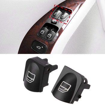 Window Switch Button Covers for Mercedes Benz W203 W208 C Clk Cl Front Left+Right Window Switch Repair Button Caps image