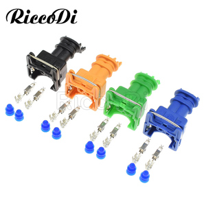 1-20Set 2 Pin/Way EV1 Junior Power Timer JPT Jetronic Kits Fuel Injector Plug Connector 282189-1 Orange Blue Green Black For Car(China)