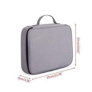 Document Ticket Storage Bag Waterproof Large Capacity Certificates Files Organizer Holder Bag for Home Office Travel