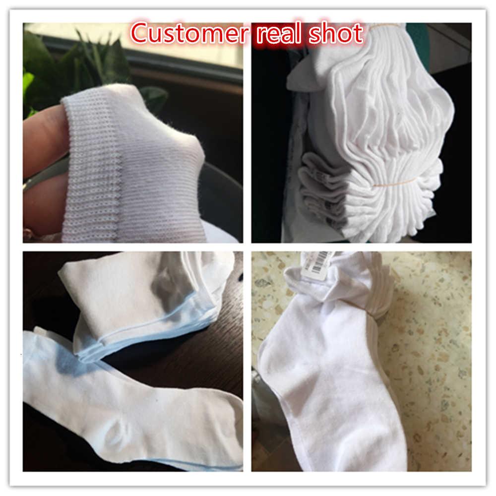 Nuevo 1 par/lote Baby Doll blanco Casual medias cómodas de algodón recién nacido Unisex Delgado niños niñas calcetines deportivos 3-24 meses