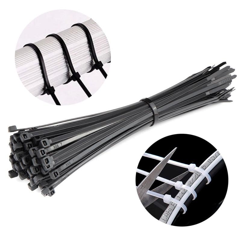 100pcs Bike Repair Fixed Cable Tie Zip Trim Wrap Cable Ties Loop Clamps Self-Locking Anti-Aging Cycling Bicycle Repair Tools
