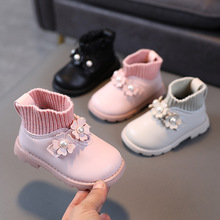 Boots Princess-Shoes Toddler Girls Winter Kids Flower with Sweet Party Wedding Wedding