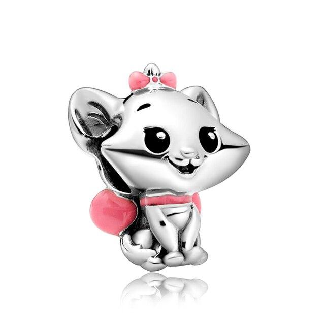 Couleur argent pluton Lilo & point breloque ajustement Pandora Bracelet aristochats Marie 101 dalmatiens Patch perle bricolage Mickey Minnie bijoux