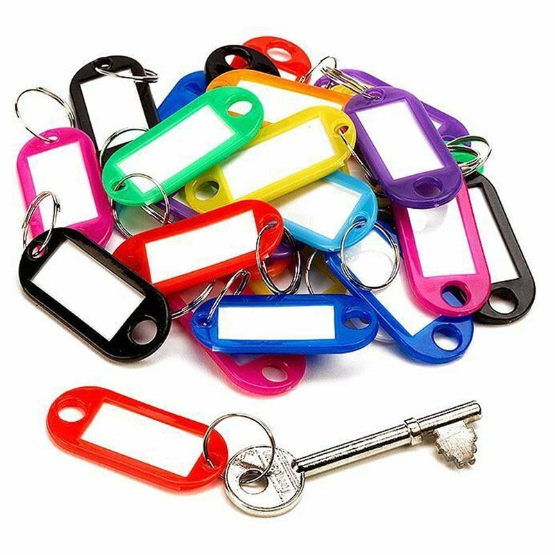 30 шт., пластиковые этикетки для ключей