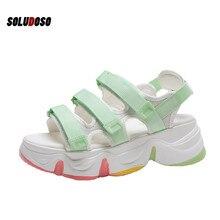 SOLUDOSO New Women Sandals Summer Platform Shoes Breathable Comfort Walking white shoes ladies shoe