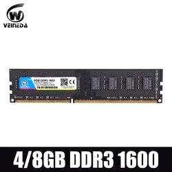 Dimm ram ddr3 2 gb/4 gb/8 gb 1600 PC3-12800 ram de memória para todos intel e amd desktop compatível ddr 3 1333 ram