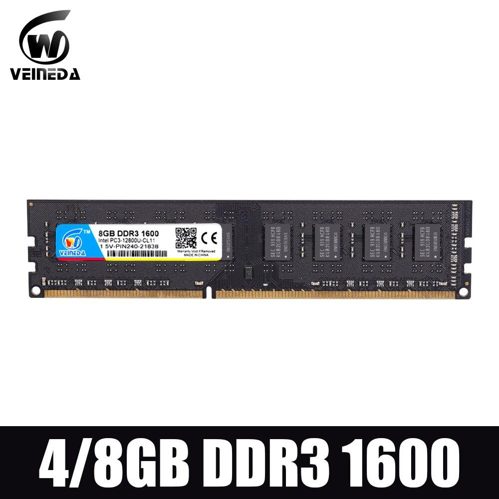 Dimm ram ddr3 2gb/4gb/8gb 1600 PC3-12800 ram de memória para todos intel e amd desktop compatível ddr 3 1333 ram