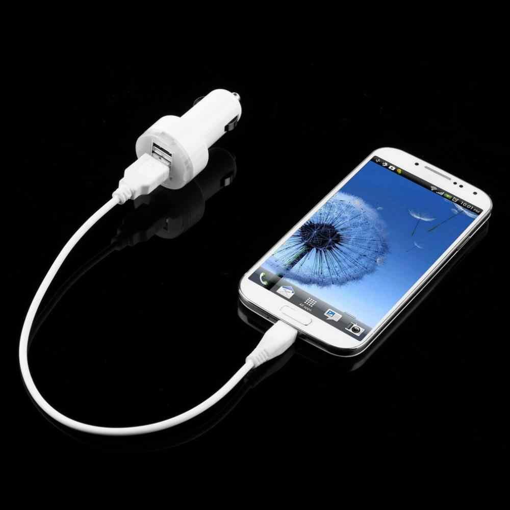2018 automóveis de alta qualidade dupla 2 portas usb adaptador carregador energia do carro para iphone6/6 plus 5S para ipod câmera luz azul venda quente