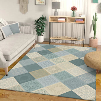 Area Rug for Living Room Nordic Yellow green Plaid Pattern Carpet Bedroom Carpet Christmas Rug Living Room Table Accessories|Carpet| |  -