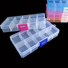10-Cells Compartments Case Container Storage-Box Bead Jewelry Transparent-Organizer Plastic