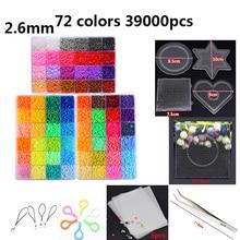 72 צבע חרוזים 39000pcs 2.6mm 5mm בעבודת יד גיהוץ פתיל פאזל Diy Creative קיד צעצוע מתנות סיטונאי סט משלוח חינם
