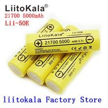 2020 batterie di alto potere di scarica della batteria ricaricabile 21700 V 5C di LiitoKala 5000 3.7 mah per gli apparecchi di alto potere