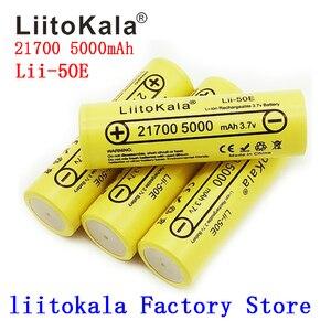 Image 2 - 21700 liitokala lii 50E 5000 2600mah の充電式バッテリー 3.7 v 5C 放電ハイパワーバッテリー高電力機器