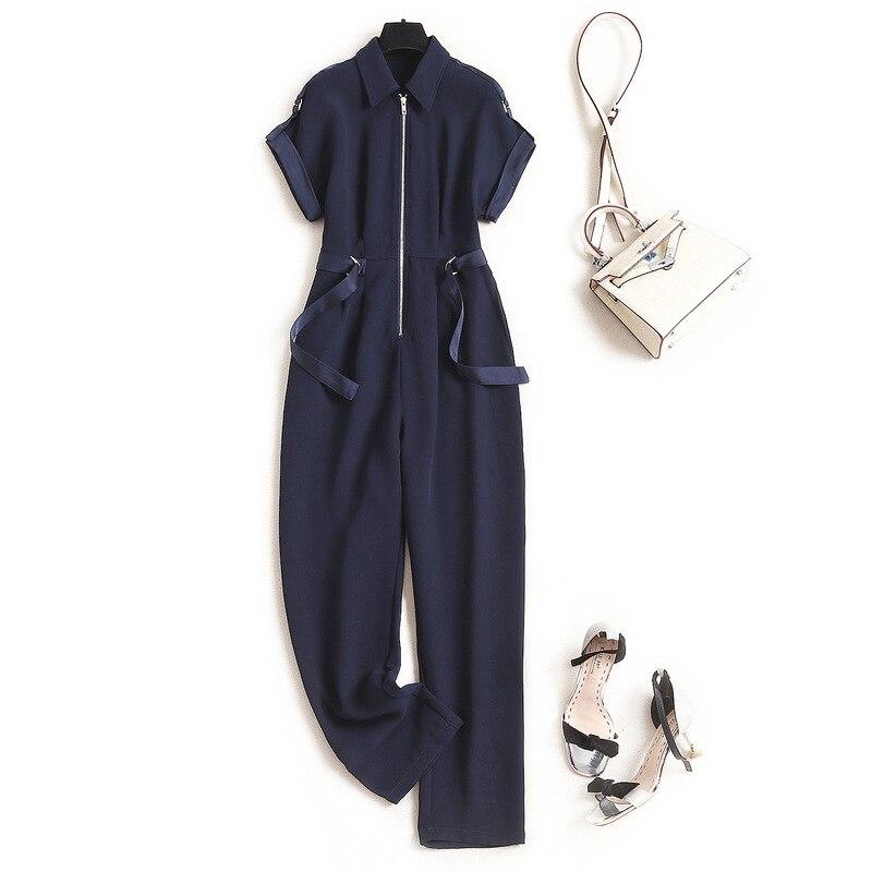 Streetwear Romper Women Fashion Office Lady  Jumpsuits  Solid 2020 Summer New Fashion Nova Woman  Rompers Womens Jumpsuit