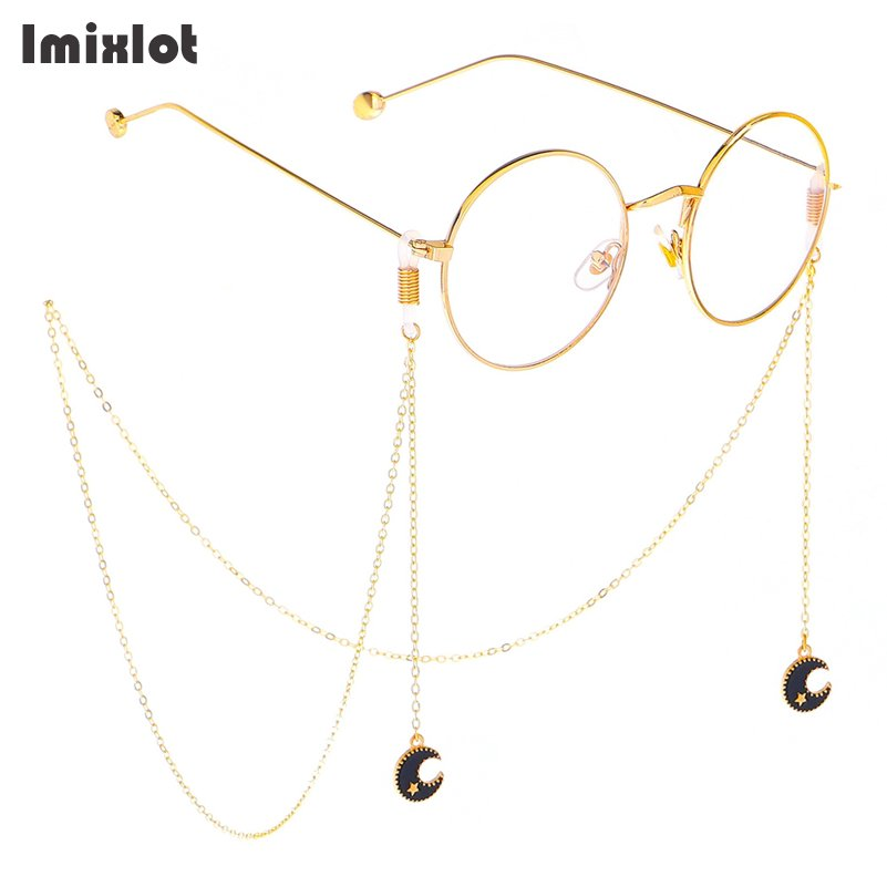 Fashion Pendant Reading Glasses Chain Star Triangle Moon Metal Sunglasses Cords Eyeglass Chains & Lanyards Gold Eyewear Retainer