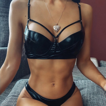 ZTVitality Black Push Up Bikini 2020 New Arrival Padded Underwire Swimsuit Female Sexy Bright leather Low Waist Swimwear Women sexy bikinis solid push up bikini 2020 hot sale padded bra low waist swimsuit female swimwear women biquini