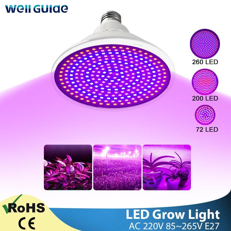 LED Grow Light E27 Lampada LED Lamp Full Spectrum 80W 50W 30W 4W AC220V 240V Indoor Plant Grow Lamp IR UV Flowering Hydroponics