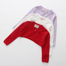 2020 Purple Baby Girls Cardigans Sweater Jacket Bow Red