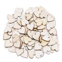1 упаковка деревянные диски в форме сердца