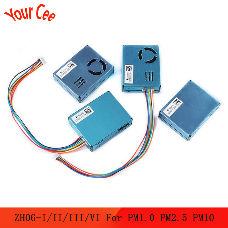 ZH06 PM2.5 Laser Dust Sensor Module ZH06-I/II/III/VI For Detection Air Quality Large Particles Laser Dust PM1.0 PM2.5 PM10