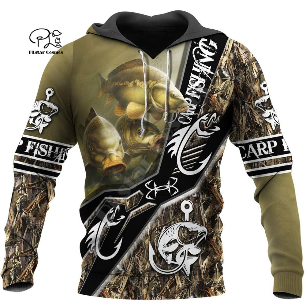 PLstar Cosmos Animal Bass Carp Fishing NewFashion Fisher Tracksuit Pullover 3Dprint Unisex Zipper/Hoodies/Sweatshirts/Jacket S-1