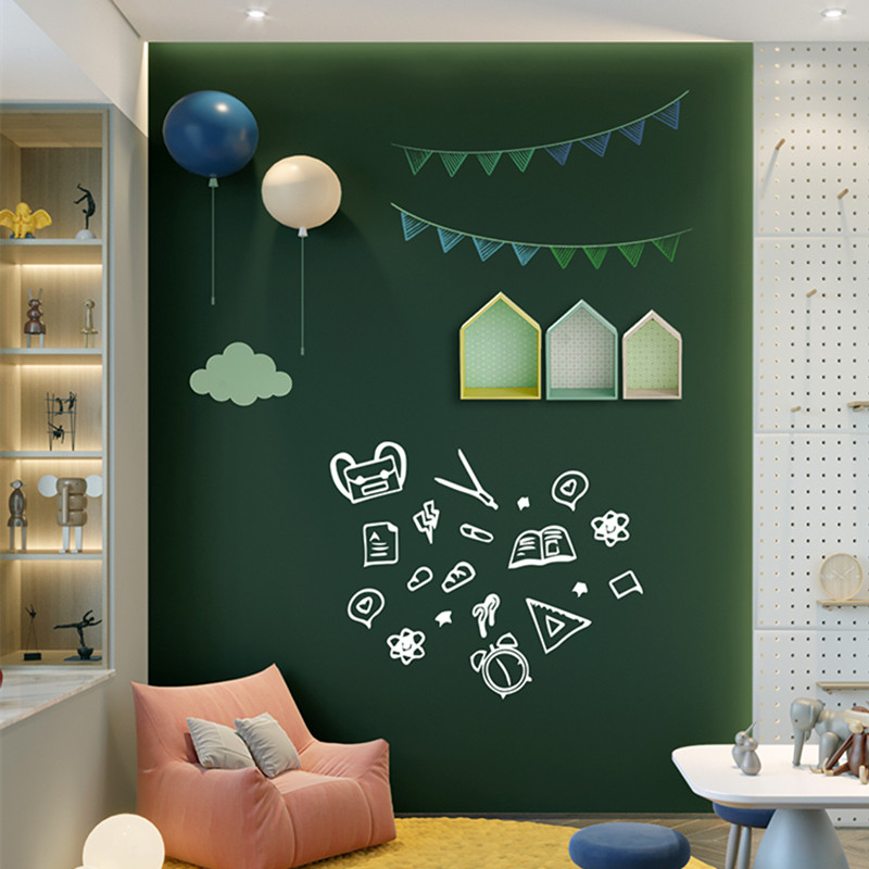 45/60x100cm Magnetic Blackboard Wall Stickers Children Chalk Drawing Note Board Office Green Self-adhesive Removable